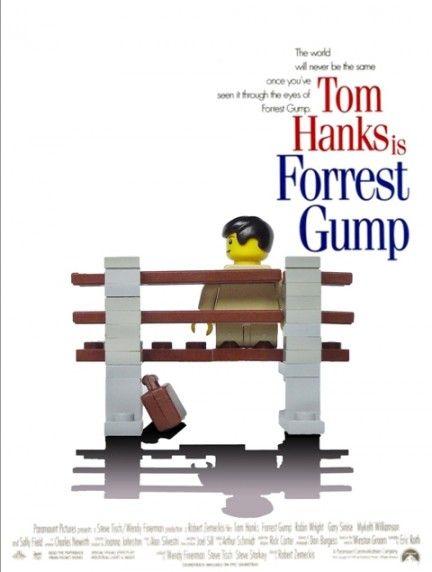 Parodie di locandine di film realizzate con i Lego - Forrest Gump