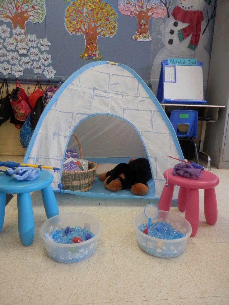 petit coin lecture et p che sur glace dans ma classe. Black Bedroom Furniture Sets. Home Design Ideas