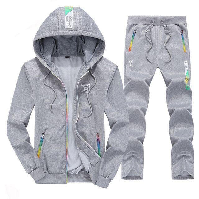 Nueva Marca De Ropa Deportiva Para Hombre Conjunto De 2 Piezas De Ropa Deportiva Para Primavera Y Otono Conjunto D In 2020 Hoodies Men Tracksuit Set Sweatshirt Pants