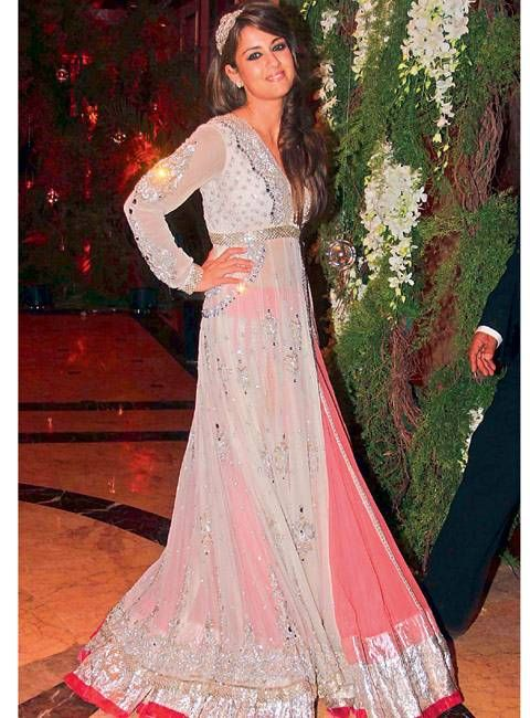Natasha Poonawala at Actors Genelia and Ritesh's Sangeet in Manish Malhotra 'Anarkali Gown'