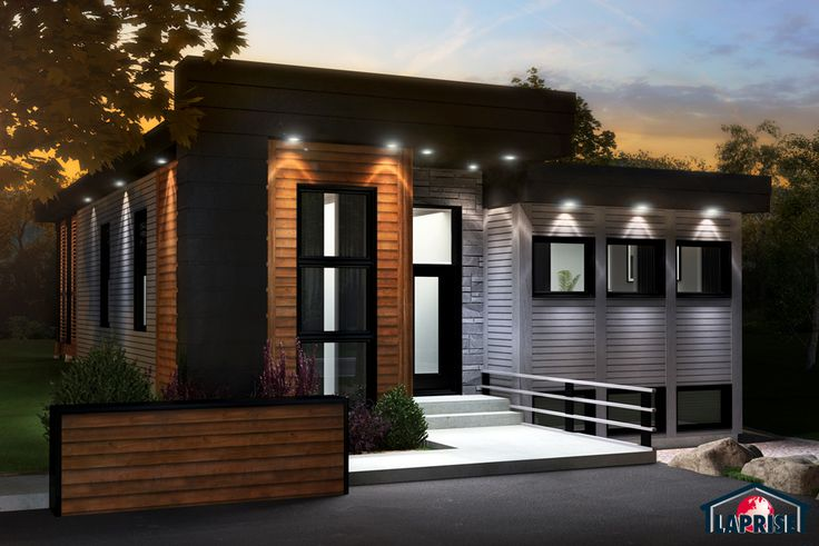 Designer zen contemporain lap0510 maison laprise for Maison bois design contemporain