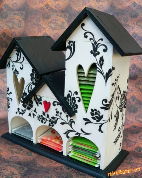 How to make a Tea House -  Store all the teabag packets in their own quirkly little home. Creative Ideas Quirky Ideas