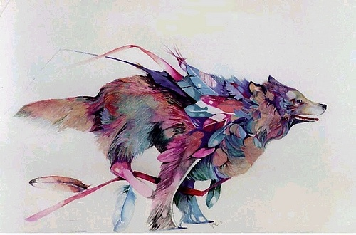 .: Indian Art, Tattoo'S Idea, The Artists, American Indian, Color, Birds Dogs, Illustration, Wolves, A Tattoo'S