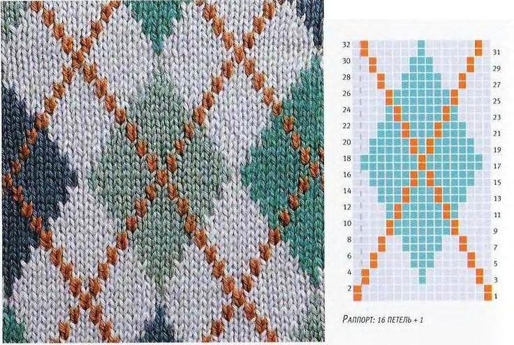 Diamond Grid Knitting Pattern : 17 Best images about Fair Isle / Norwegian / Icelandic Charts / Motifs on Pin...
