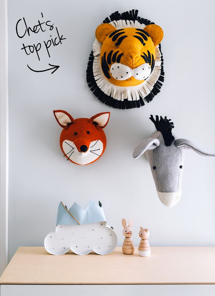 chet's room - oh eight oh nine. Featuring Fiona Walker Animal Heads from Talo x