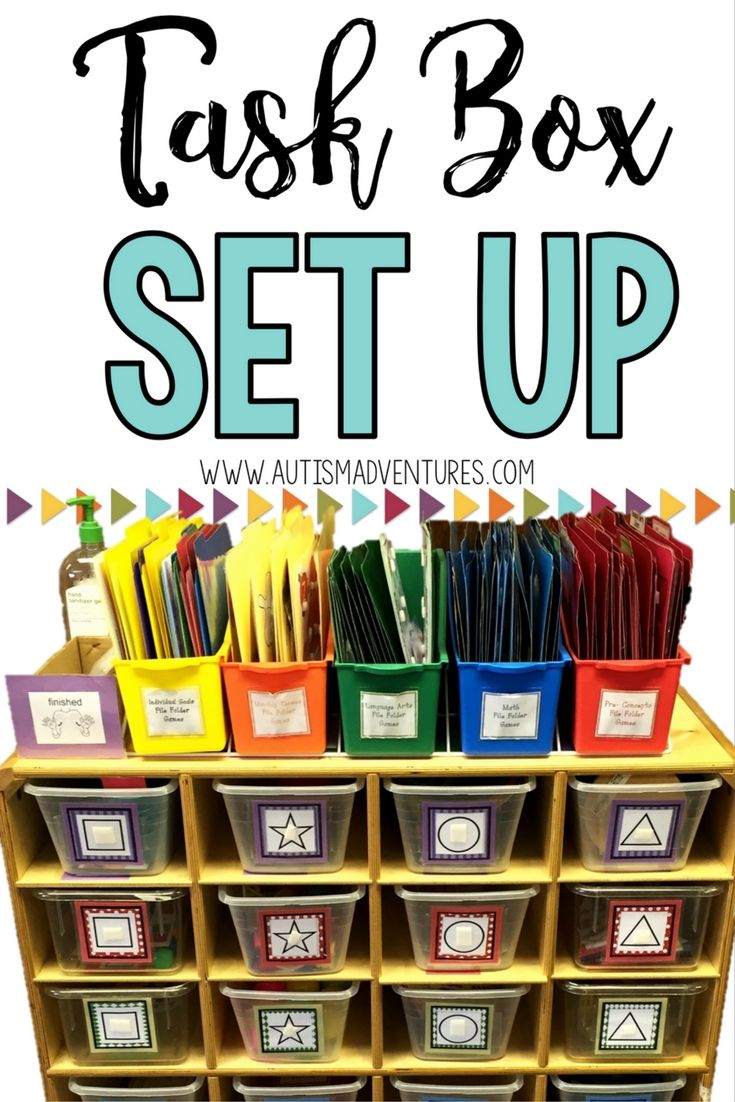 How to set up a task box system for any special education class. Great for any…