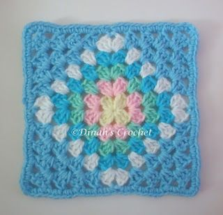 Granny square…inspiration…. nice soft colours….