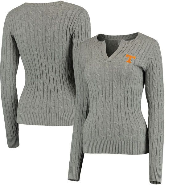 Tennessee Volunteers Colosseum Women's Alma Mater Cable Sweater - Gray - $67.99