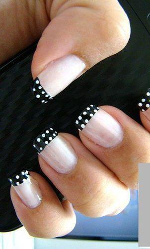 Nail Art Trend: Black & White Manicure | FashionBased