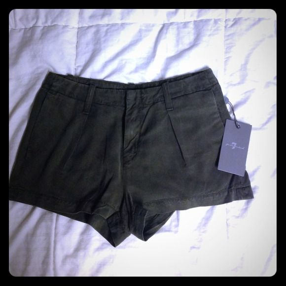 7 for all mankind olive green shorts NWT 7 for all Mankind Other