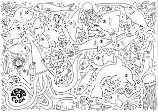 kleurplaat bij 'vis': Vissen Inkleuren, Ander Zeedieren, Lari Cooking, Onder Water, Kleurplaat Zeedieren, Larie Cooking, Knutselen. Zee, Lariecook Banners, Cooking Kleurplaten
