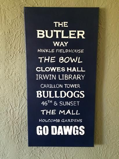 Butler University Subway Sign by PuddlesStudio on Etsy #butleruniversity
