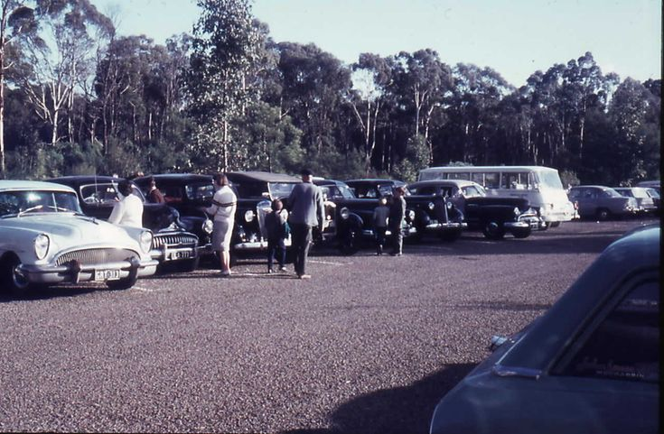 Buicks in the carpark at Healesville, 1967 #HealesvilleHistory