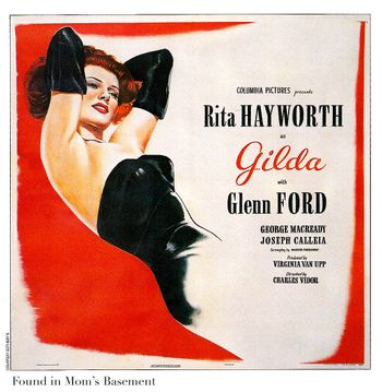 Gilda poster from 1946: Film Noir Movie Posters from the 1940s