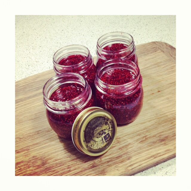 Homemade raspberry jam for Christmas gifts | Holiday/Gift ...