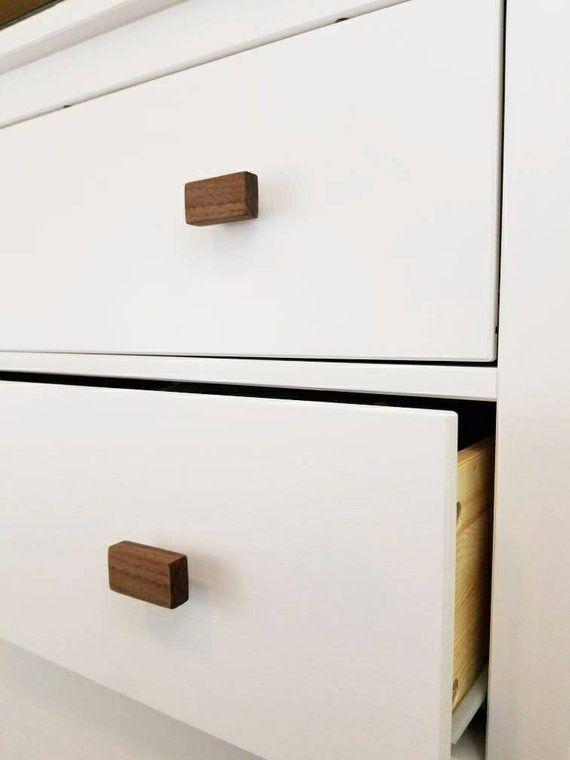 Walnut Drawer Pulls Simply Wooden Draw Pulls Modern Etsy In 2020 Drawer Pulls Modern Drawers Modern Drawer Pulls