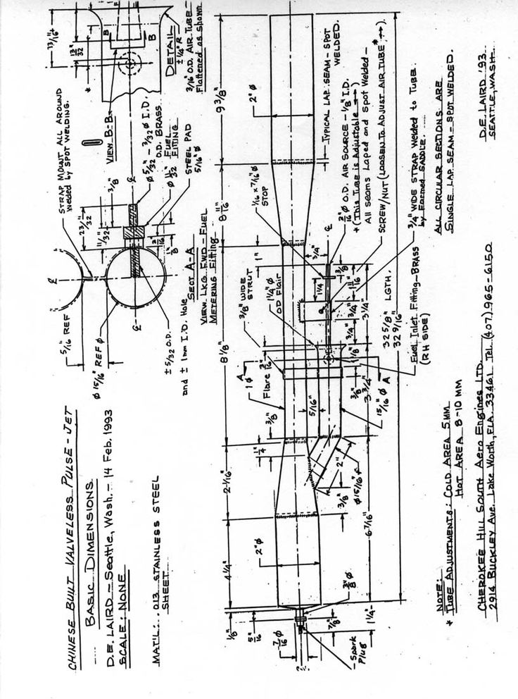 The plans for a valveless pulsejet engine.