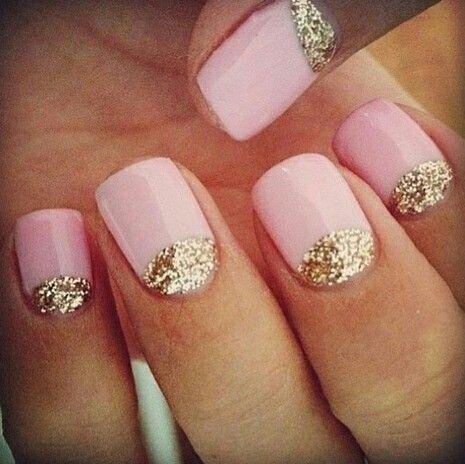 Dorado y rosa palo