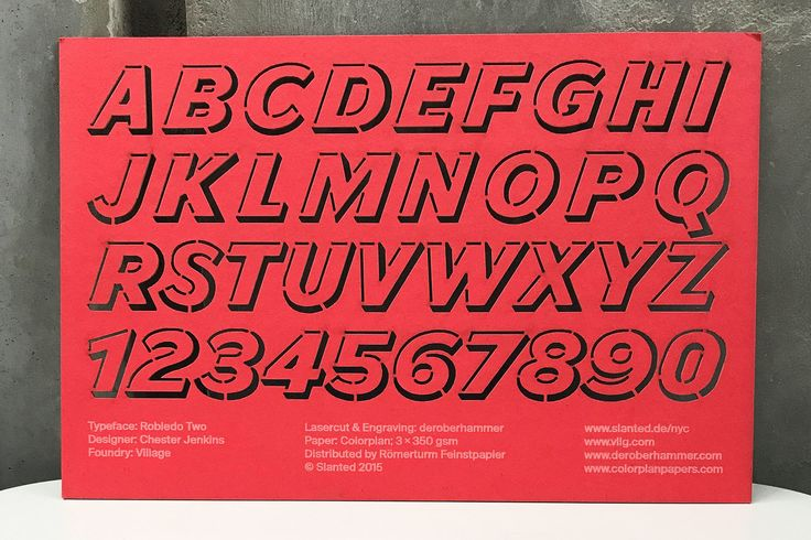Robledo — a custom stencil for Slanted Magazine's New York issue.