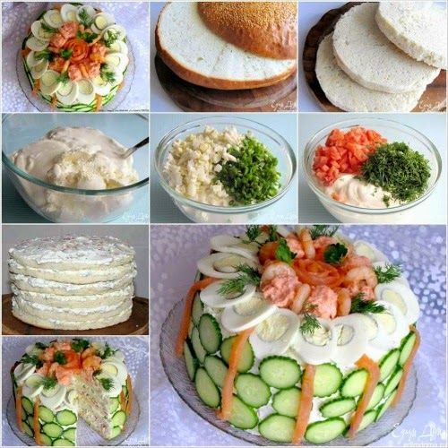 Συνταγές για μικρά και για.....μεγάλα παιδιά: Πως να κάνουμε τουρτα ψωμιού με καπνιστό σολομό !