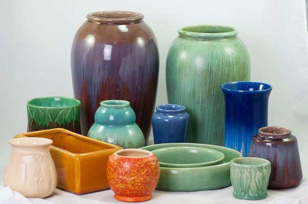 Assorted shapes of Melrose by Hoffman Pottery