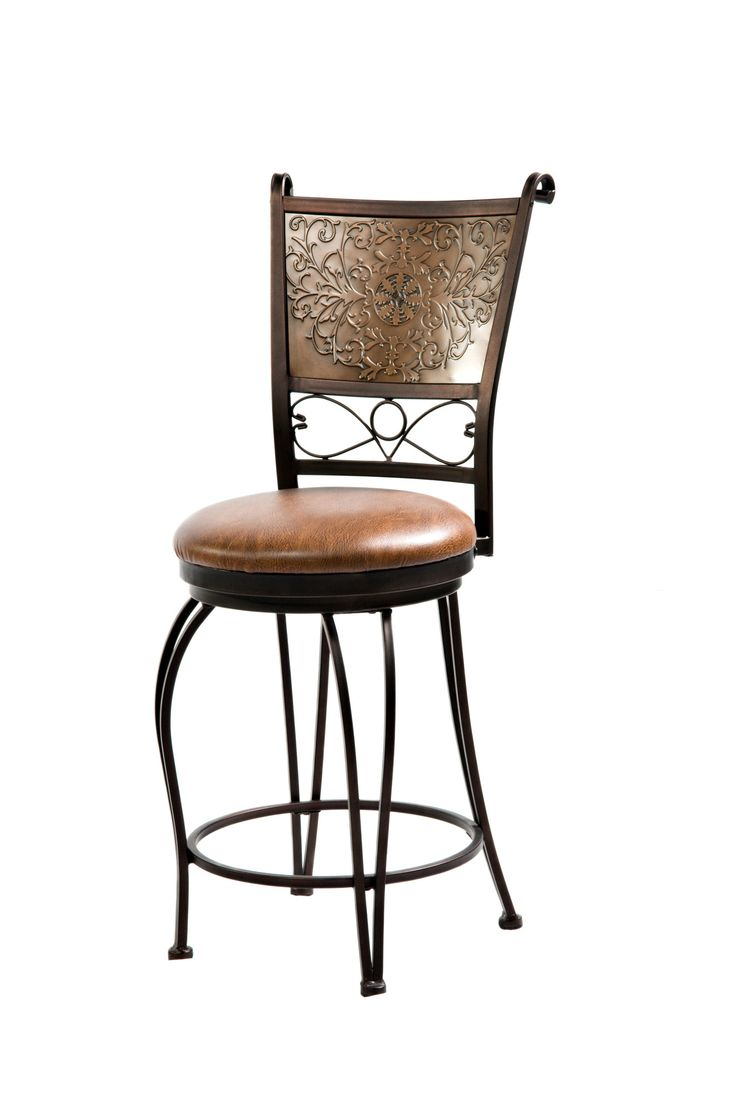 bronze with muted copper stamped back counter stool - Wayfair Counter Stools