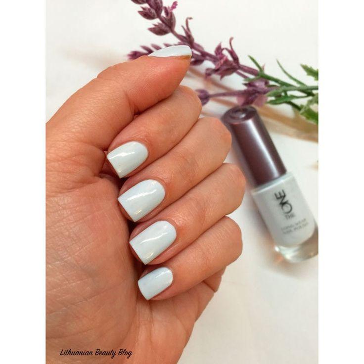 Стойкий лак для ногтей Oriflame -  морская пена (соль) The ONE long wear nail polish kleur sea salt