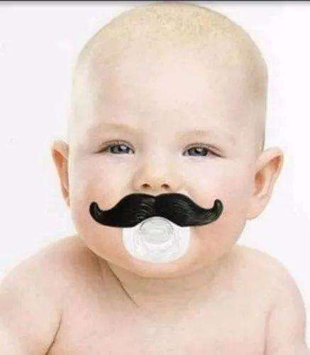 chupetas divertidas bigode engraçadas para bebe