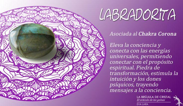 LA BRUJULA DE CRISTAL. Labradorita. Conoce los cristales con #labrujuladecristal.