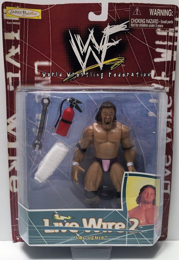 (TAS034429) - 1998 Jakks WWF Wrestling Live Wire 2 Action Figure - Val Venis