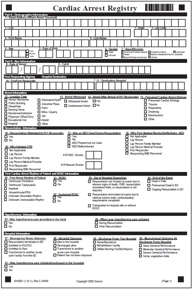 blank hospital discharge papers