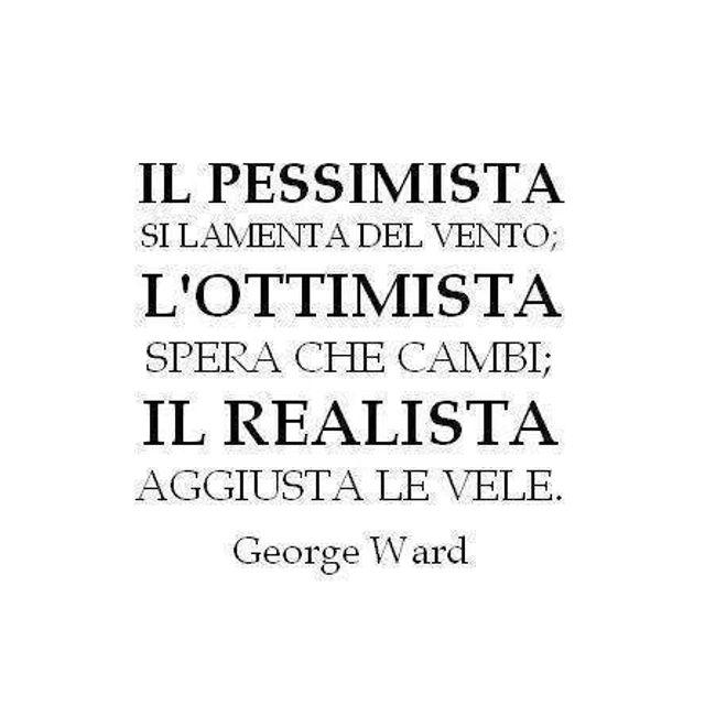 Il pessimista, l'ottimista e il realista