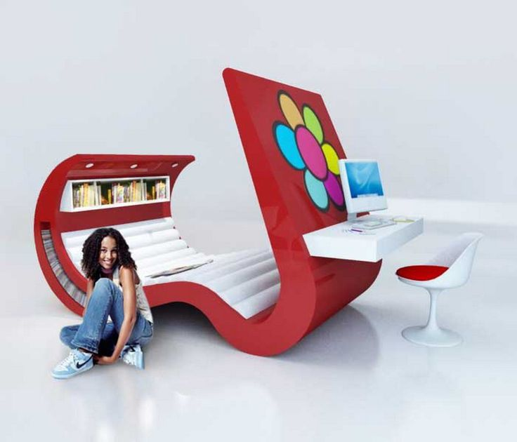 beautiful and unique tween bedroom furniture design ideas wave chaise and desk