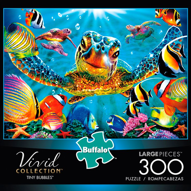 Vivid Tiny Bubbles 300 Large Piece Jigsaw Puzzle - Buffalo Games