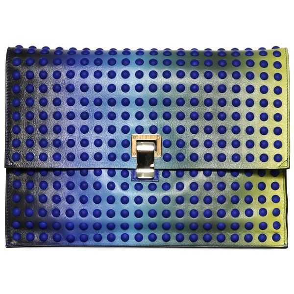 PROENZA SCHOULER Large Lunch Bag Gradient Leather Clutch found on Polyvore