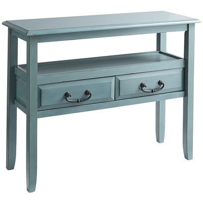 Anywhere Console Table - Smoke Blue