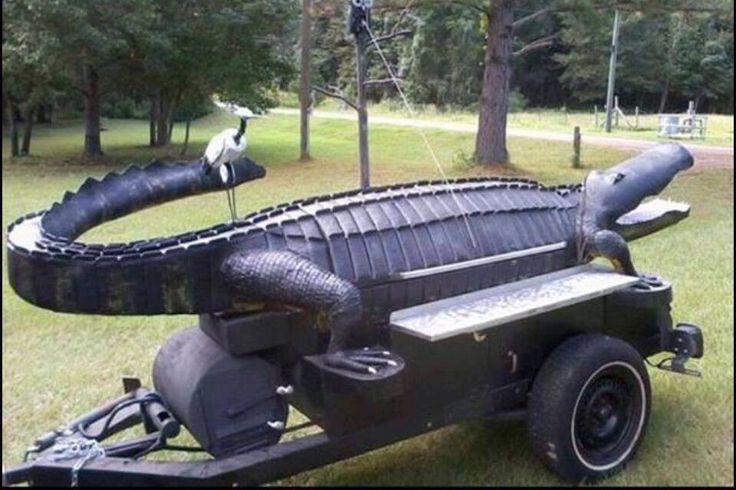 Alligator smoker BBQ pits n. smokers Pinterest