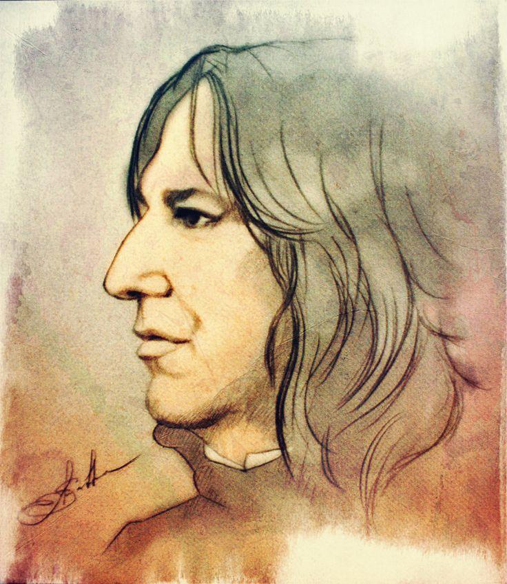 """severus-snape-my-eternal-prince: """" Alan Rickman - Severus Snape by DeolaS """""""