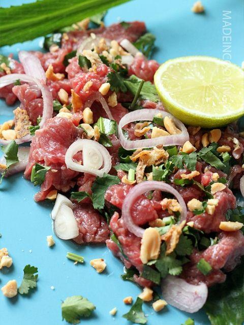 Bò Tái Chanh (carpaccio de boeuf au citron) - Lemon beef carpaccio