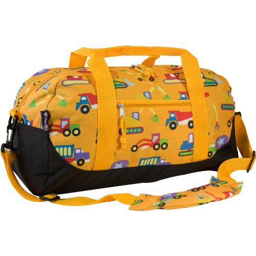 Olive Kids Under Construction Overnighter Duffel Bag:   Great for school, sports practice, sleepovers, and more! The durable exterior makes these bags versatile, while the roomy interior makes getting packed and unpacked a cinch! Features a handy, detachable shoulder strap. One-year manufacturer's warranty against defects-normal wear-and-tear, and misuse excluded. Rigorously tested to ensure that all parts are lead-safe, bpa-free, phthalate-free, and conform to all rules and regulation...