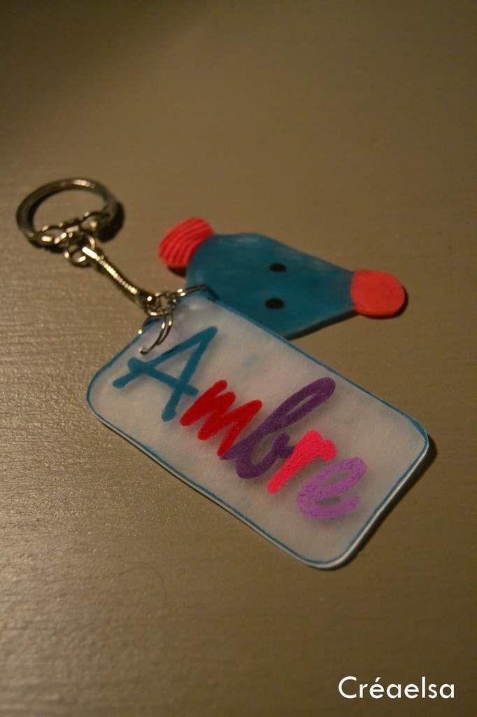 Porte clef plastique dingue