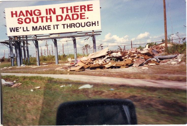 Hurricane Andrew and the aftermath, South Dade County, 1992
