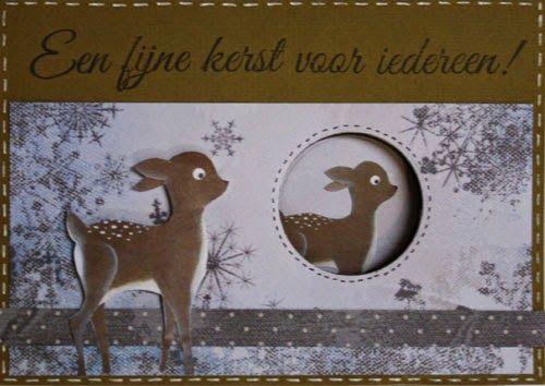 Marjoleine's blog: Kerstkaarten met hertjes