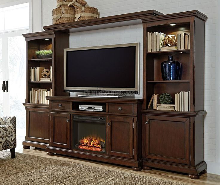 Porter Extra Large Entertainment Wall W Fireplace In 2019