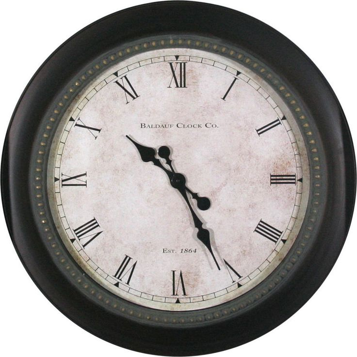 30 In Huge Black Classic Round Wall Clock Large Clocks Traditional Living  Room #allen_roth Part 43