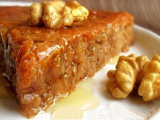 Gateau aux peches et miel