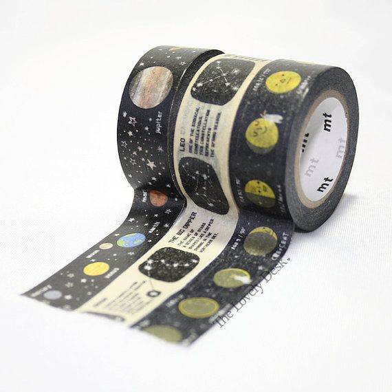 MT for Kids Planets Washi Tape Japanese Washi by TheLovelyDesk