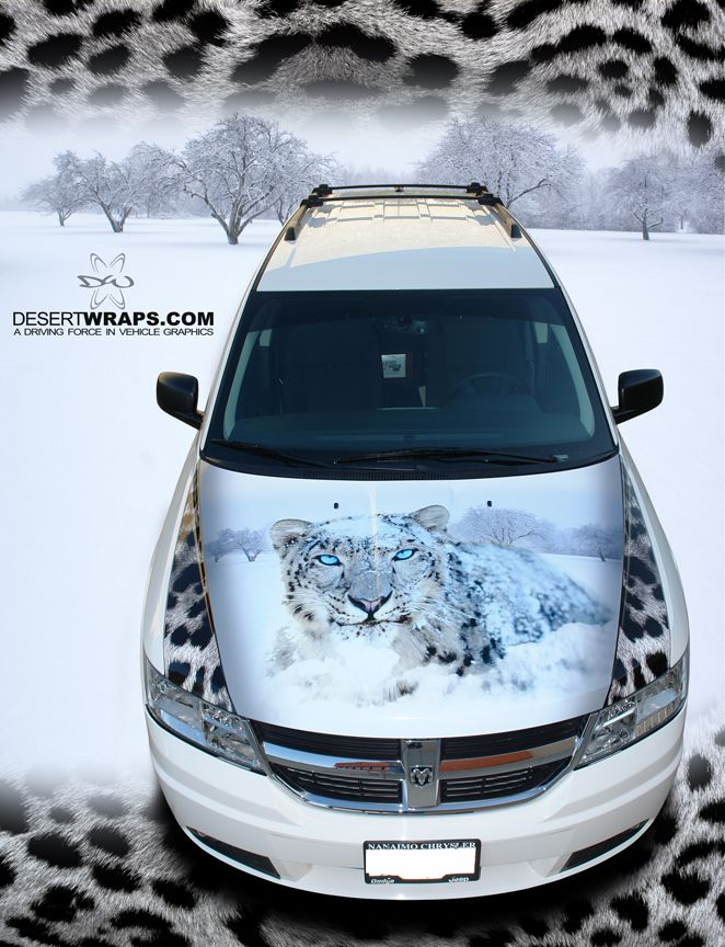 Snow leopard specialty car wrap design installed by DesertWraps.com. We install vehicles from Palm Desert, Palm Springs, Rancho Mirage, Indian Wells, San Diego, Temecula, Riverside and beyond. 760-935-3600