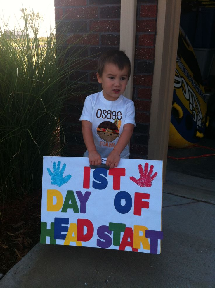 1st Day of Headstart (School) sign ... Made out of wood & art paper. Multi colored letters from Dollar General. Traced Right & Left Hand. Super Easy!