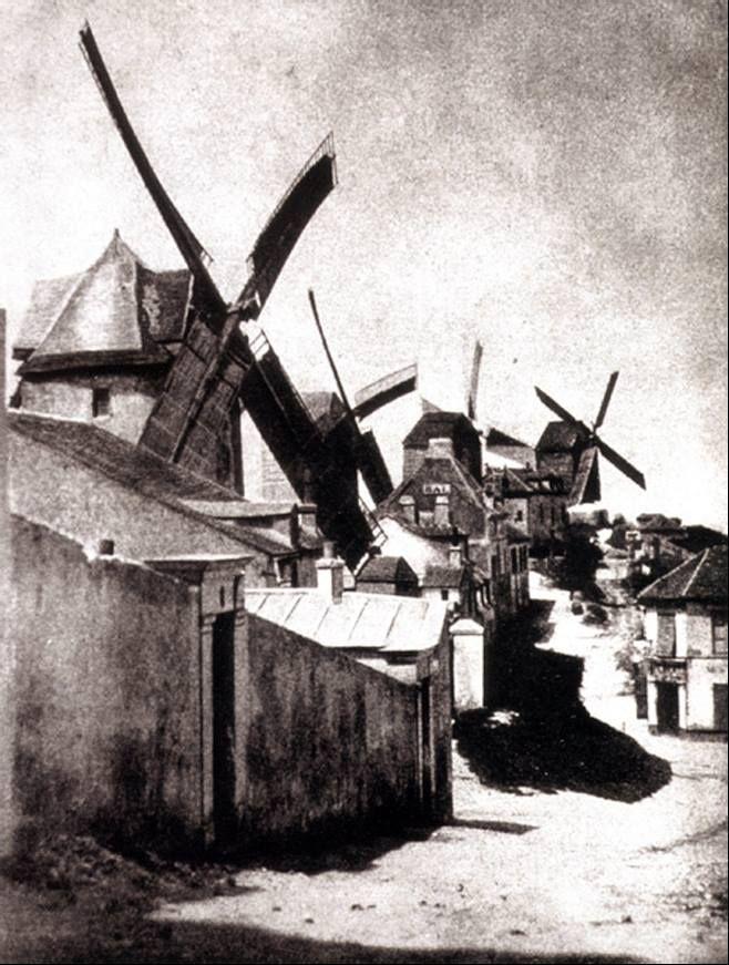 1839 moulin de la petite tour paris photo de hippolyte bayard. Black Bedroom Furniture Sets. Home Design Ideas